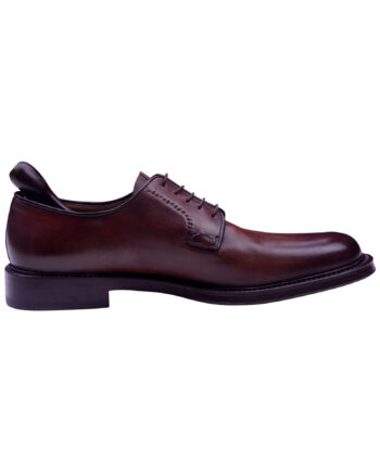 Santoni Handmade Lace Up Light Brown Dress Shoes