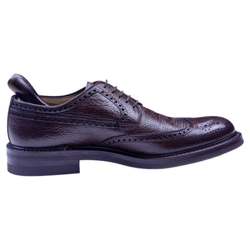 Corneliani Designer Men's Brown Wing Style Leather Shoes