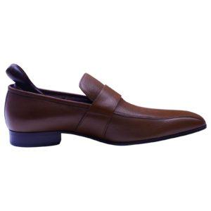 Bally Designer Brown Leather Men's Loafer shoes