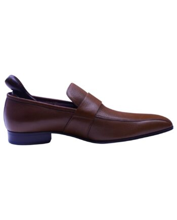 Bally Designer Brown Leather Men's Loafer shoes