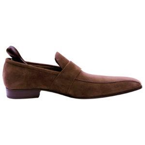 Bally Designer Brown Suede Leather Men's Loafer shoes