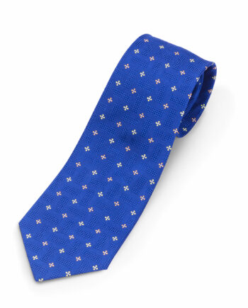 Luciano Barbera Blue Medallion Silk Tie