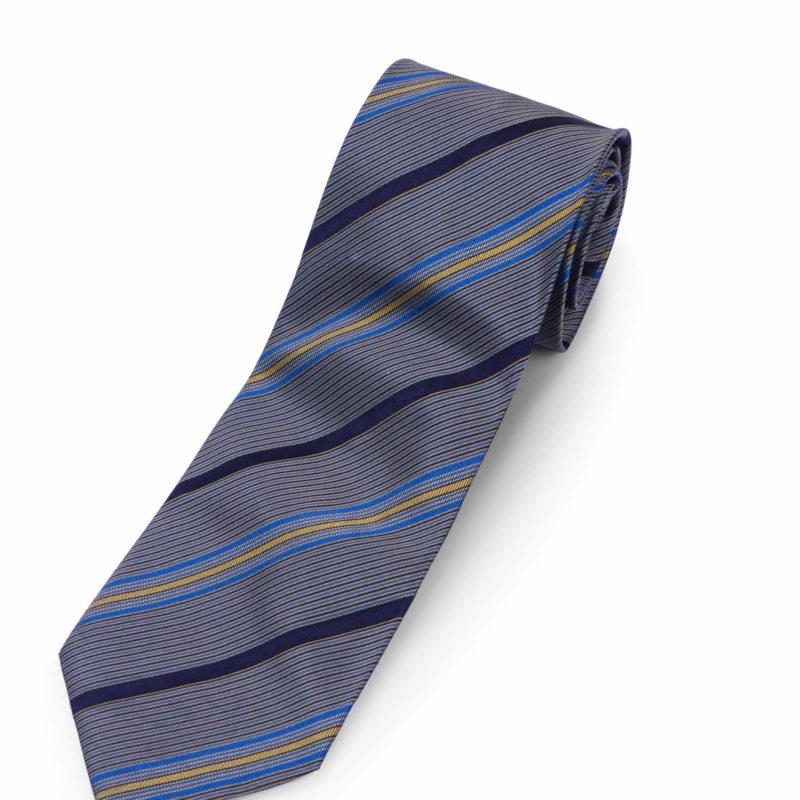 Gianfranco Ferre Brown Striped Silk Tie