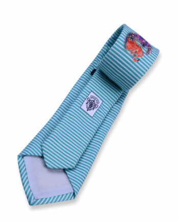 Gucci Turquoise striped skinny Tie