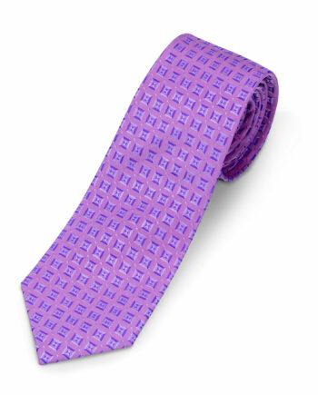 Luciano Barbera Pink Color Silk Tie