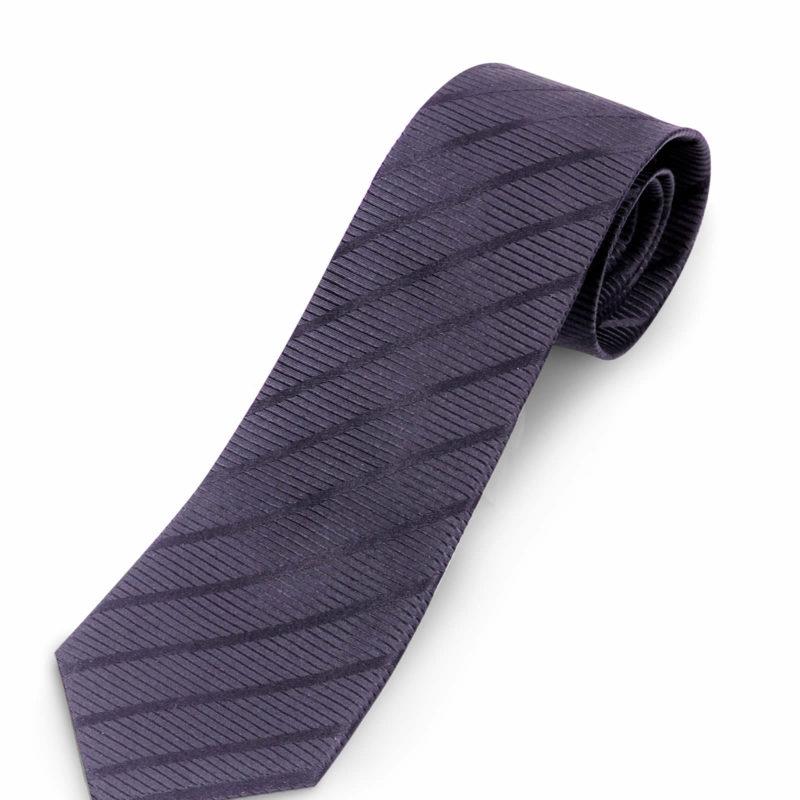 Luciano Barbera Brown Striped Silk Tie