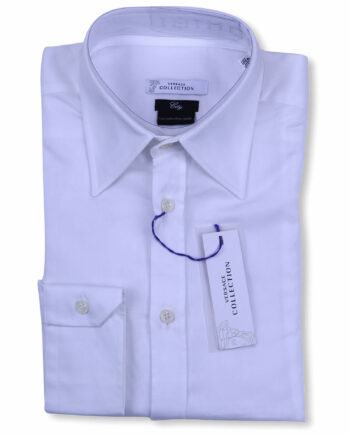 Versace Collection Designer White Dress Shirt