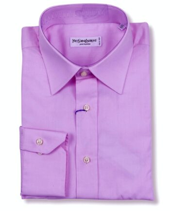 Yves Saint Laurent Designer Light Pink Color Dress Shirt